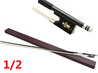 High quality violin bow size 1/2 violin Ebony wood Bow Top Horse hair violin accessories bow accessories para violin with Case