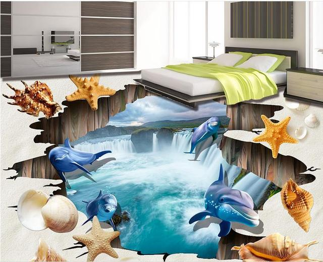 sch ne tapete 3d bodenbelag wohnzimmer 3d tapete wasserfall dolphin beach 3d bodenbelag bad wand. Black Bedroom Furniture Sets. Home Design Ideas