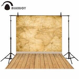 Image 1 - Allenjoy welt karte hintergrund für fotografie vintage kompass holz boden reise foto studio Hintergrund photo booth photo neue