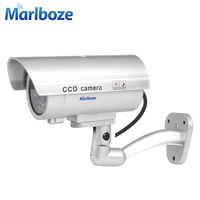 Outdoor Indoor Waterproof Fake Bullet Camera Led Light Fake Security Camera Simulation CCTV Camera Video Surveillance
