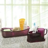 Plastic Bathroom Shelves Detachable Storage Box Sink Organizer Drainer For High Quality