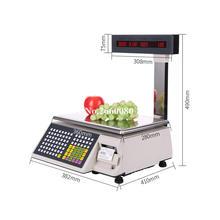 2 шт/лот весы для печати этикеток с испанским штрих кодом цифровые