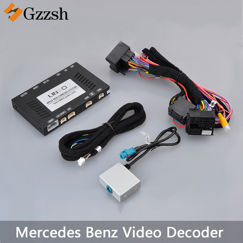 Car Rear View Camera Adapter Video Decoder For Mercedes-Benz GLA GLE GLC CLA A B C E-class Car NTG4.5 Original Socket LS-8868C