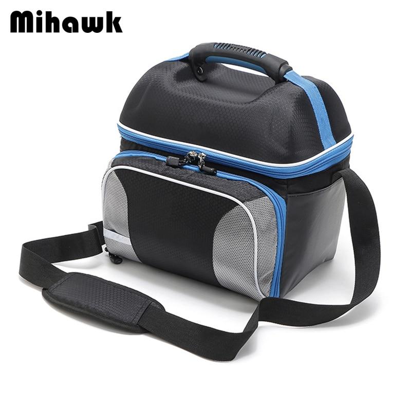 b4c9ebed2 Mihawk correa de hombro almuerzo bolsa mantener fresco impermeable caja de  comida aislamiento 14L bolsas de
