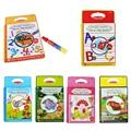 Crianças Magia Coloring Book Livro De Desenho de Água com 1 Magic Pen Íntimo Animal/Tráfego/Fadas/Letras/letras Placa De Pintura Da Água