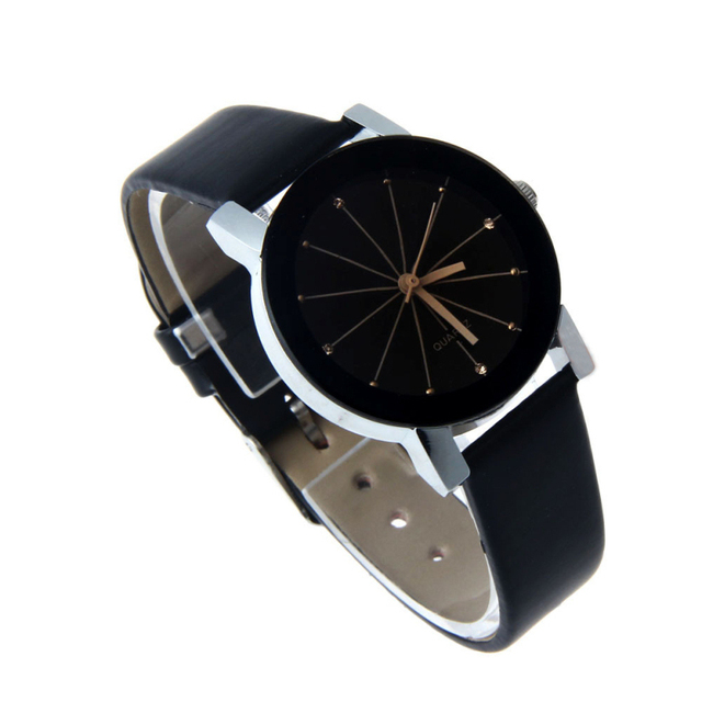 New Attractive High quality New Arrival women Quartz Dial Clock Leather Wrist Watch Round Case fashion women's sports Watches 1