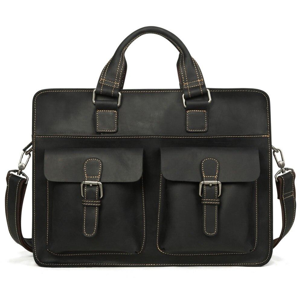JOYIR 2019, Винтажный Мужской портфель из натуральной коровьей кожи, Crazy Horse, кожаная сумка через плечо, мужская сумка для ноутбука, мужская деловая дорожная сумка - 6