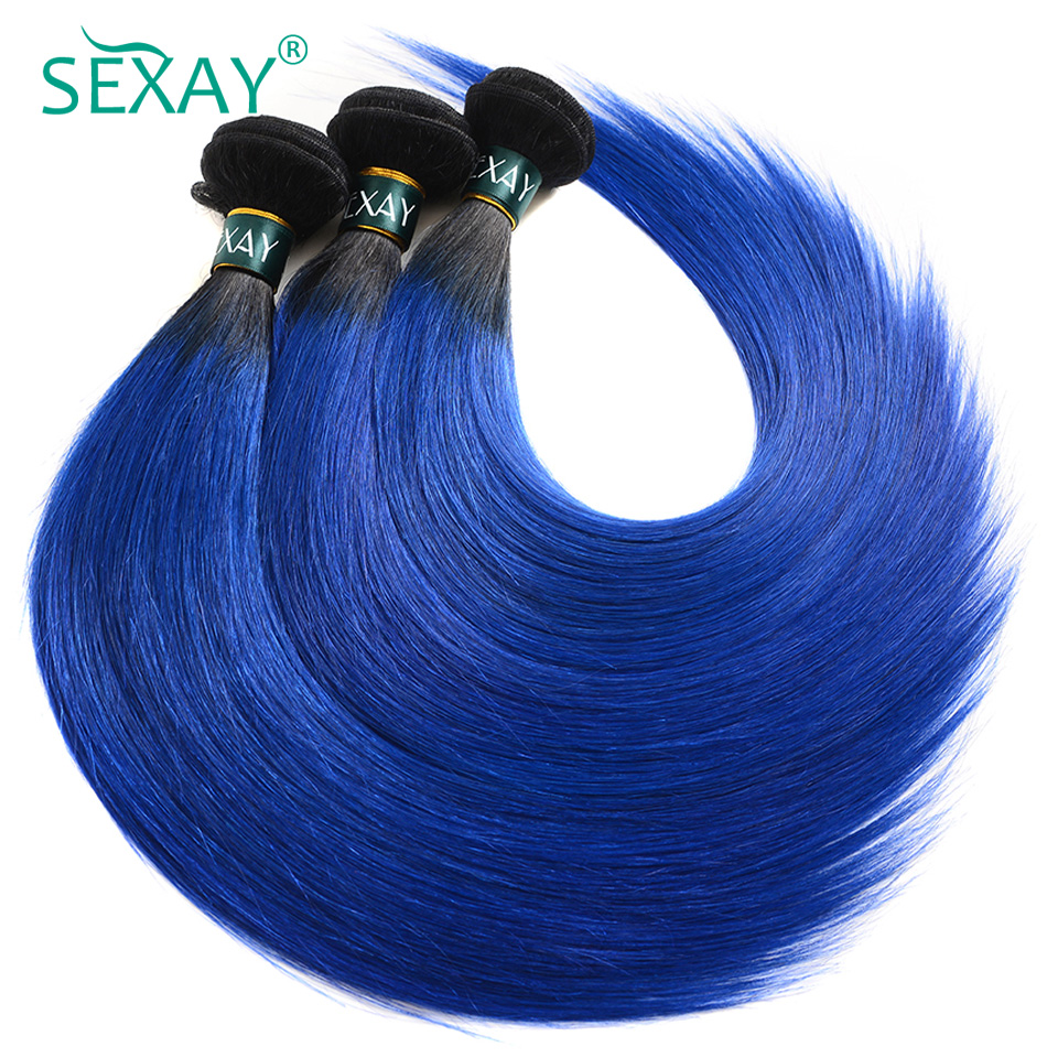 blue-human-hair-weaving-straight