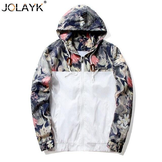US $19.45  JOLAYL Nieuwe Bloemen Bomberjack Mannen Hiphop Slim Fit bloemen Piloot Bomberjack Jas mannen Hooded Jassen Plus Size 4XL in JOLAYL Nieuwe