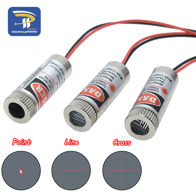 650nm 5mW Red Point / Line / Cross Laser Module Head Glass Lens Focusable Focus Adjustable Laser Diode Head Industrial Class