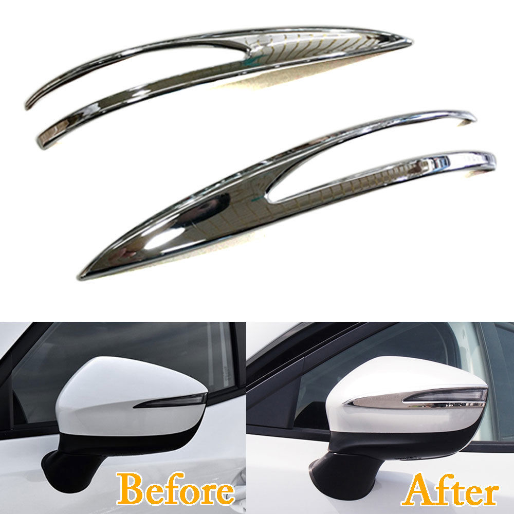 цена на 2pcs/set Chrome ABS Car Door Side Rearview Mirror Cover Trim Strip Finish Decal Fit For 2018 Mazda CX-3 Car Styling Accessories