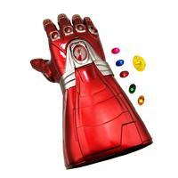 PVC Gloves Avengers Endgame Iron Man Infinity Gauntlet LED Glove Cosplay Detachable Laser Stone Arm Tony Stark Light Up