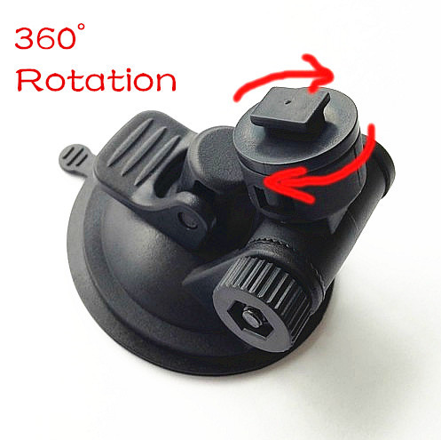 2015 New Arrive Car 360 degree Rotating Holder Car DVR Windshield Suction Cup Mount Holder ABS Driving Recorder Bracket Stands