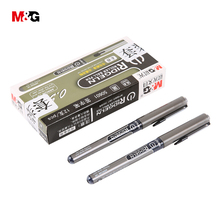 12pcs/box M&G gel pen student 0.5mm for writing school stationery office supplies black ink 1pcs wholesale high quality gift