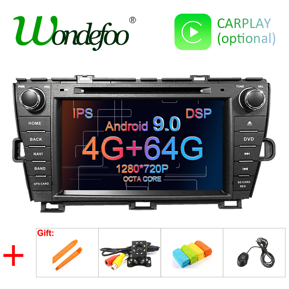 4G 64G IPS DSP Android 9 0 AV Output CAR DVD PLAYER For Toyota Prius 2009