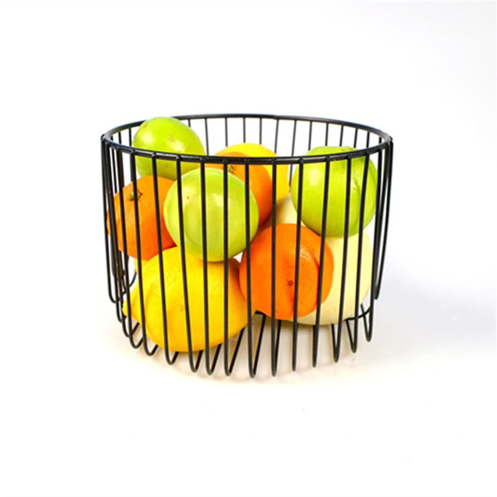 Household Fruit And Vegetable Basket Iron Art Collection Basket Sitting Room Kitchen Sundries Receive Put Thing Basket