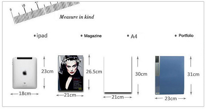women bags measure