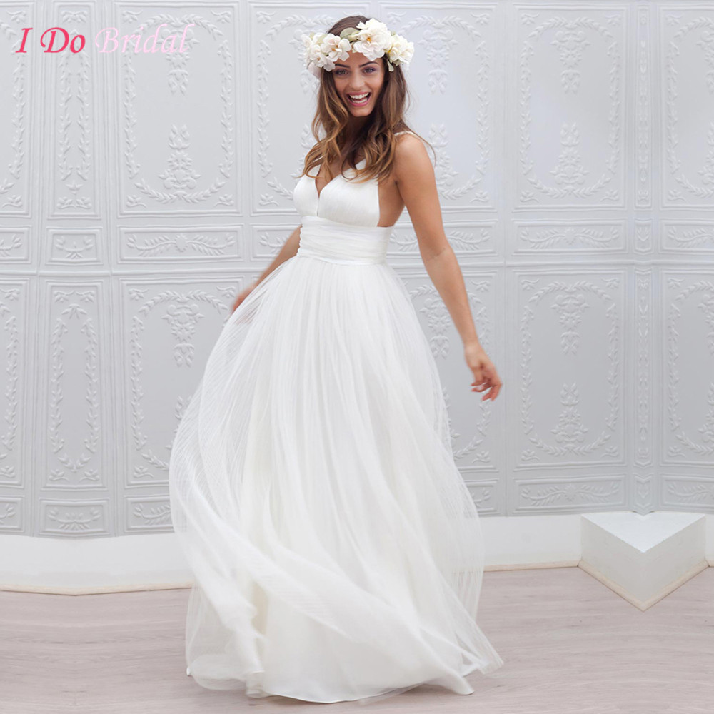 Wedding White Country Dress compare prices on white country dresses online shoppingbuy low cheap wedding dress beach sexy summer western romantic 2016 bridal gowns backless straps tulle