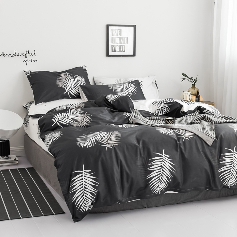 Youth moden pattern 100% cotton Bedding set Duvet cover set with pillowcase Double queen king 4pcs Spring summer soft comfortabl-in Bedding Sets from Home & Garden    1