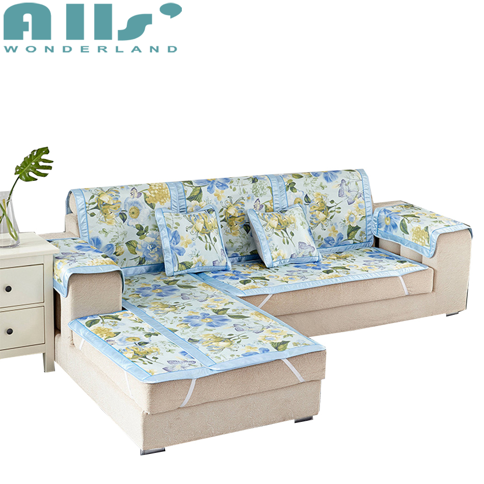 Cool Inexpensive Furniture: Flower Slipcovers Sectional Cheap Covers For Couches Sofa