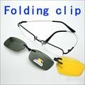 Memoria Gafas de Marco plegable Imán Clip de La Miopía Gafas de Marco de Plata y Gris gafas de Sol Polarizadas Los Hombres Plegables Espejo Polarizado