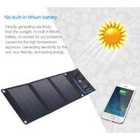 18W Foldable Solar Charger with Dual USB Port Solar Panels Voltage Current Display Climbing Hiking Cell Phone Charger
