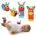 2 pcs Meias Chocalhos Do Bebê Brinquedos de Pelúcia Animais de Pelúcia Brinquedo Para Crianças de Aprendizagem Educação Brinquedos Chocalho com Anel do Sino