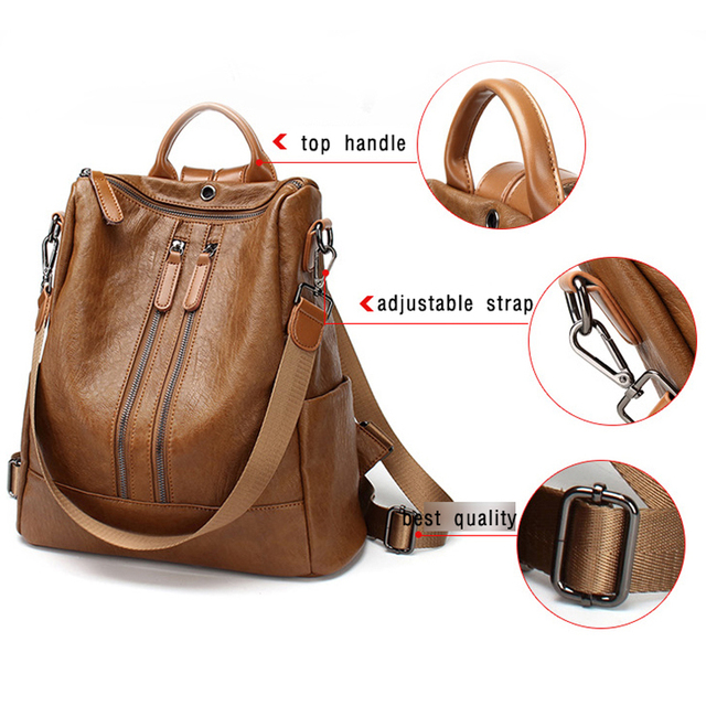 New Arrivals Backpacks For Women Leather Backpack for Teenage Girls