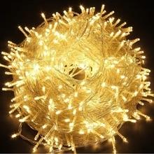Светодиодный светильник 10 м, 20 м, 30 м, 50 м, 100 м, AC220V, Рождественский праздничный светильник, водонепроницаемый Рождественский светильник, 9 цветов, декоративная лампа