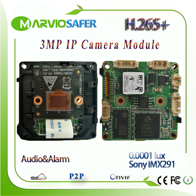 H.265 3MP 1080P FULL HD Starlight IP Network Camera Module Board Colorful Night Vision Sony IMX291 Sensor Security System