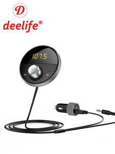 Deelife Bluetooth AUX Handsfree Car Kit Receiver for Cars with 3.5mm