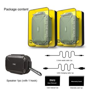 Image 5 - MIFA F7 Bluetooth 4.0 hoparlör IP56 toz geçirmez su geçirmez hoparlör, AUX. Kamp hoparlörler Metal konut şok direnci hoparlörler