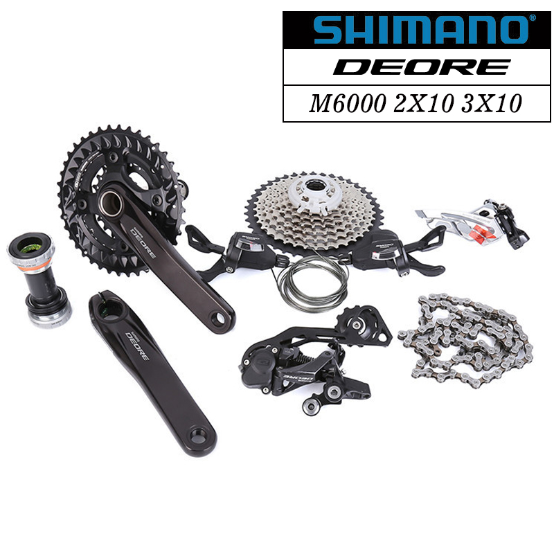цена на SHIMANO Deore M6000 2x10 3x10 20s 30s Speed bike bicycle MTB Groupset 7 Pcs update from M610