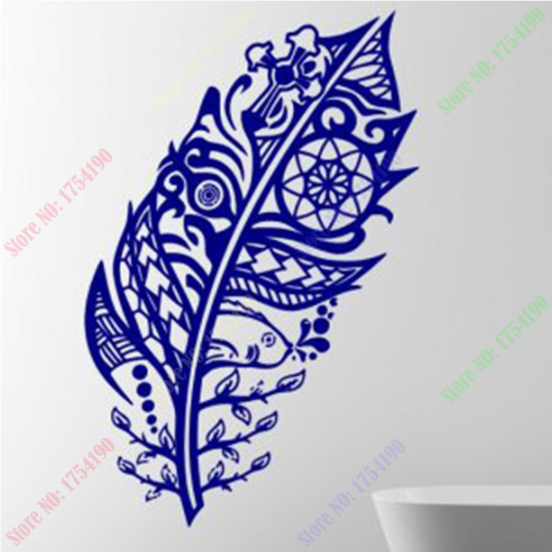 font b Custom b font font b Made b font Amazing Feather Flowing Wall Decal