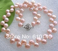 Vogue розовый пресной воды Ювелирные изделия из жемчуга Цепочки и ожерелья
