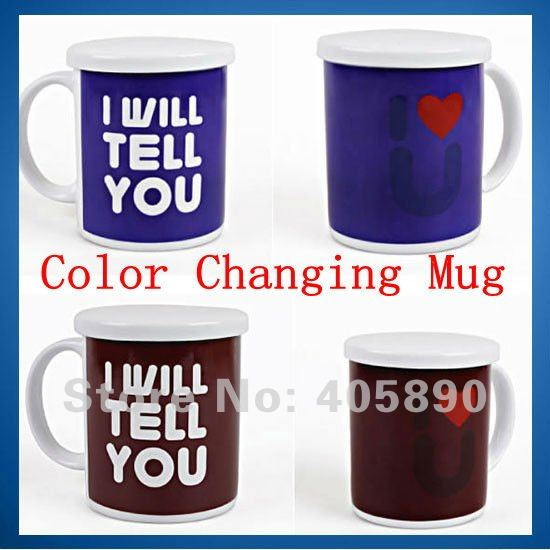 I Love U Color Changing Mug Novelty Gift Couple Cup Birthday Gift In