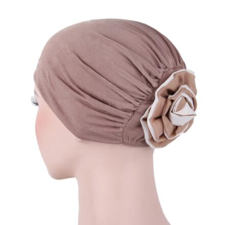 on sale 1pcs NEW women Padded Folded turban cap head wrap Georgette Flower Headcover for Cancer Chemo Hair Loss холодильник side by side samsung rs552nruasl