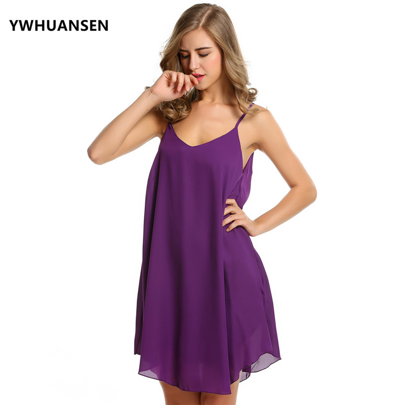 YWHUANSEN Sexy Chiffon Pregnant Dresses Woman Slip Dress Beach Pregnant Loose Clothing Clothes for Pregnant Women Elbise Summer