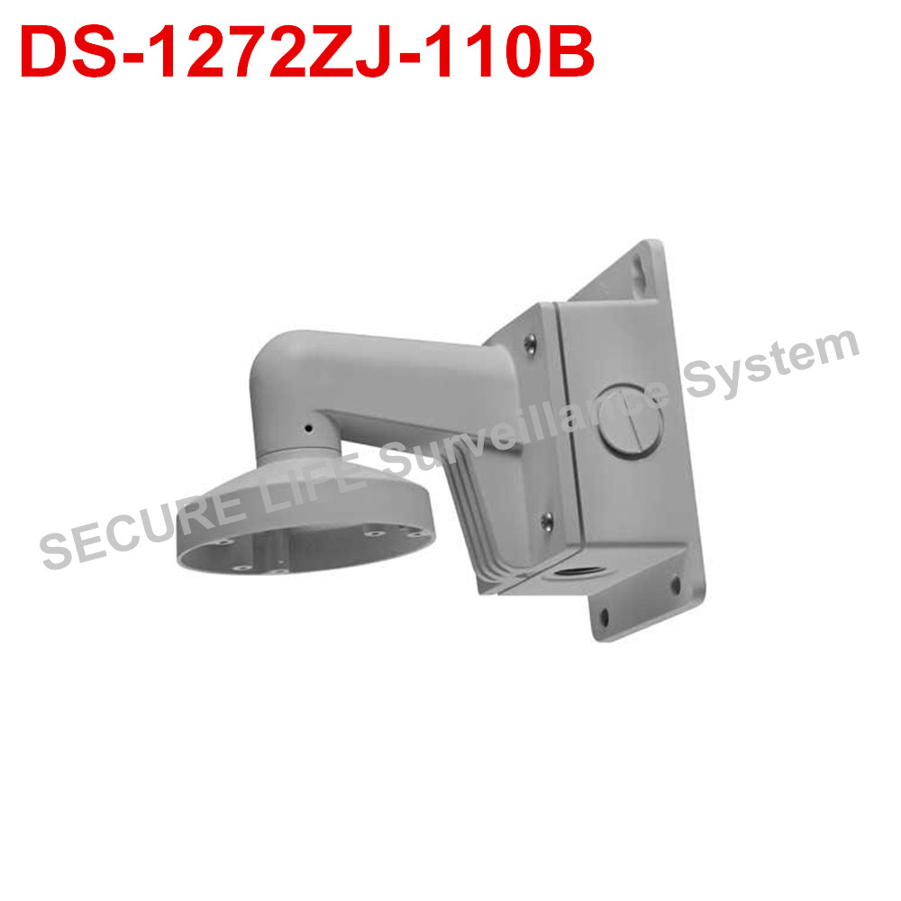 цена на DS-1272ZJ-110B cctv camera accessory wall mount bracket with junction box for dome camera DS-2CD2132F-IWS DS-2CD2142FWD-IWS