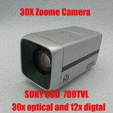 Big discount 1/3″ 700TVL Sony CCD 360x zoome camera  30x Optical 12X digital zoom   CCTV  Zoom Camera  Free Shipping