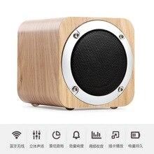 Деревянный Bluetooth динамик портативный мини-компьютер звуковая карта аудио беспроводной сабвуфер маленький деревянные пушки