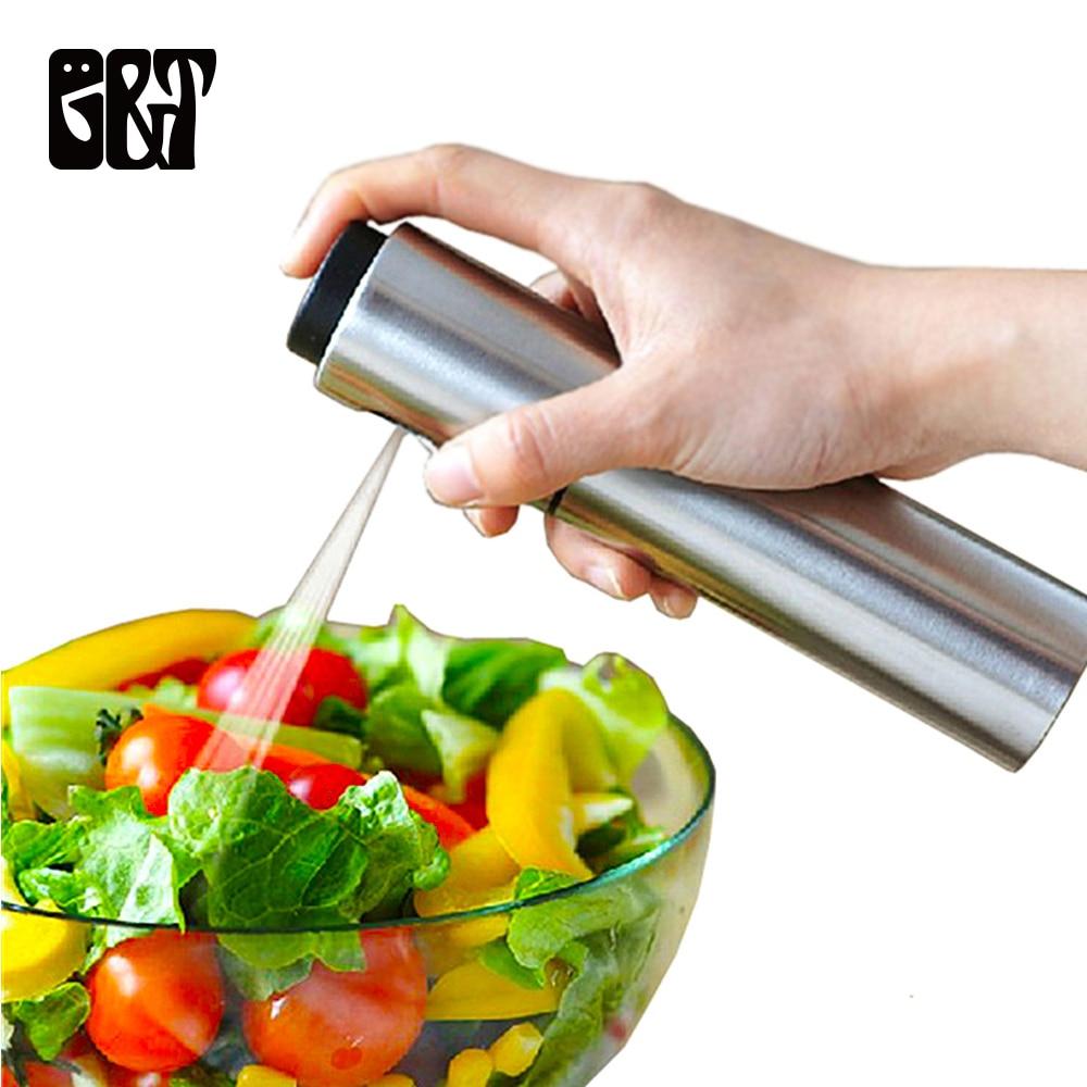 Edelstahl Spray Flaschen Nachfüllbar Öl Essig Nebel Spritzen Flasche Wasser Pumpe Soße Boote Grill BBQ Sprayer Küche Werkzeuge