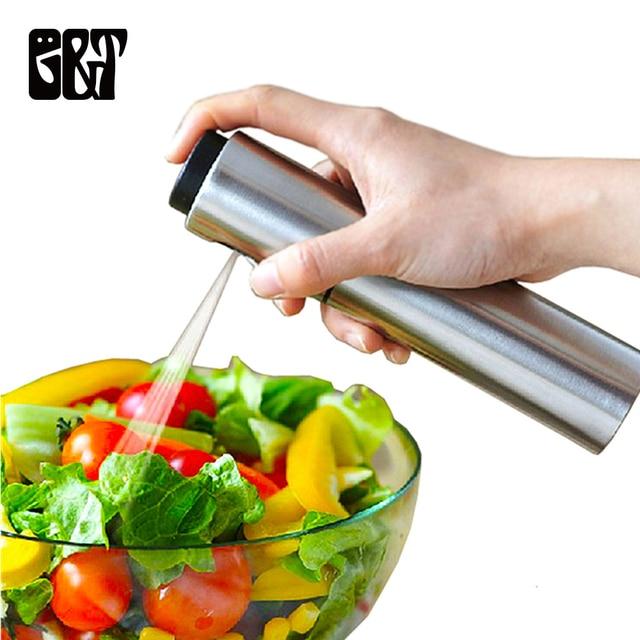 Thép không Gỉ Phun Chai Chai Refillable Dầu Giấm Phun Sương Chai Nước Bơm Gravy Thuyền Nướng BBQ Sprayer Công Cụ Nhà Bếp