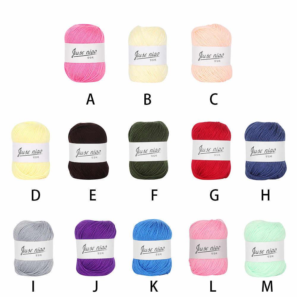 Nhà Đầy Màu Sắc DIY Crochet Khăn Vải Thảm Sợi Bông Len Dệt Kim Đoạn tay dệt kim Dày Đan Giỏ Chăn 1030