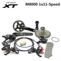 Shimano DEORE XT M8000 1x11 11S Speed Shifter+Rear Derailleur+Chain+ 42T Cassette Groupset Kit