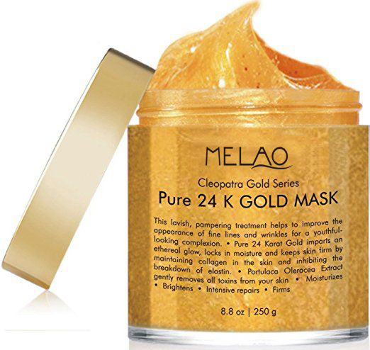 24 K Gold Facial Mask Mask For Anti Wrinkle Anti Aging Facial Treatment Pore Minimizer Acne Scar Treatment  Blackhead Remover