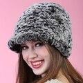 fashion gift autumn winter Super warm  show women genuine thick vintage fur Russian style cap lady luxur fur hat hair rabbit fur