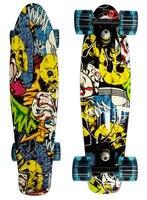 スケートボードコンプリートレトロ女の子男の子クルーザーミニロングボードスケート魚ロングボード22'
