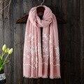 2016 bufanda de Invierno dama de la moda de algodón de lino impreso flor mujeres chal bufanda fan art de turismo