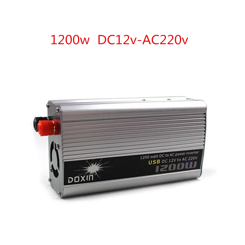 1200W WATT DC 12V to AC110V or  220V USB Car Power Inverter Adapater Charger Converter Transformer aoshike usb 1500w watt dc 12v to ac 220v